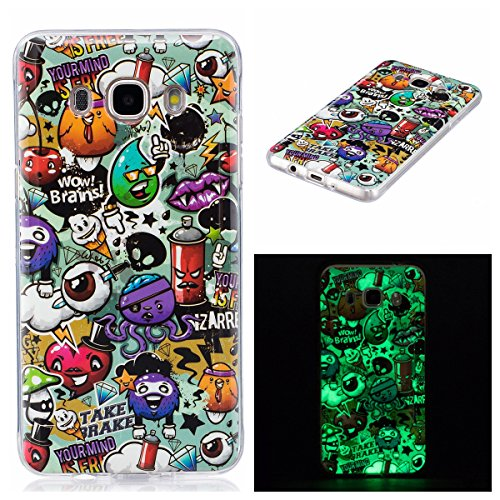 Foto de Funda Galaxy J5(2016), Lifetrut Luminous Noctilucent Glow in the Dark Funda de protección para Samsung Galaxy J5(2016) [Wow brains]