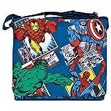 Marvel Avengers Umhängetasche für Jungen - Flache Umhänge für Kinder mit Captain America, Iron...
