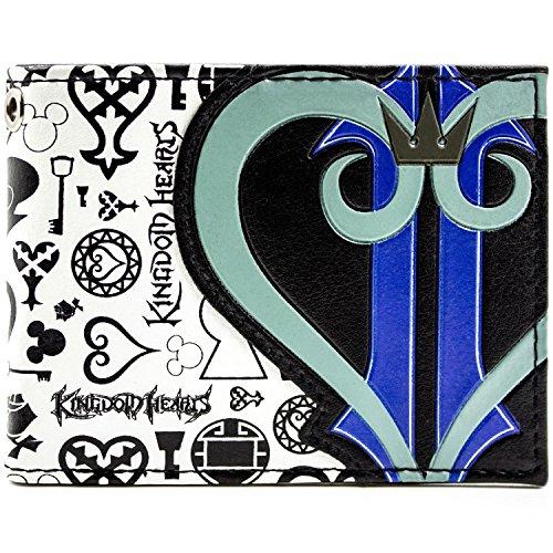 Kingdom Hearts Symbole und Herz-Logo Schwarz Portemonnaie Geldbörse -