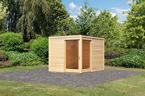 Karibu Gartenhaus Cubus Eck 1 naturbelassen 28 mm