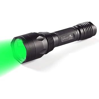 Ultrafire Lampe Torche Vert Lumiere Verte Lampe De Poche Chasse H G3