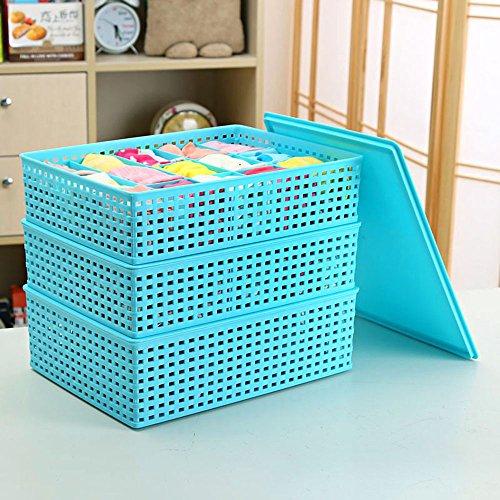 Plastica Tre pezzi Serie Di con la biancheria intima coperto Storage Box, quattro tipi di stili disponibili ( colore : D )