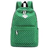 G2PLUS Leichte Schulrucksack mit Polka Dots Nette Canvas Schultaschen Damen Mädchen EXTRA Groß Daypacks Rucksäcke Modische Backpack mit Laptop Fach 33 cm * 45 cm * 16 cm – Little Princess