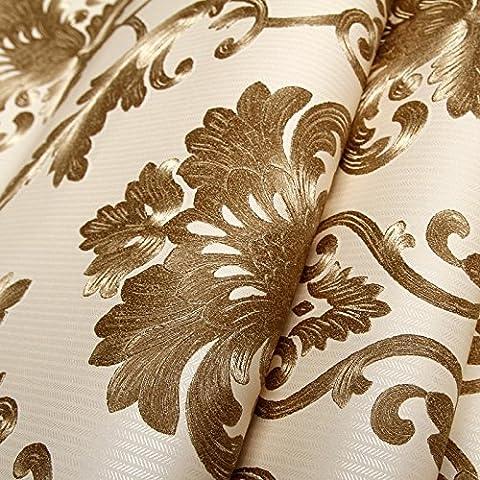 Xzzj Un style minimaliste et moderne non-tissé salon chambre à coucher de l'environnement papier peint papier peint mural damassé, Kim