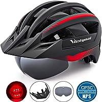 VICTGOAL Fahrradhelm MTB Mountainbike Helm mit abnehmbarem magnetischem Visier Abnehmbarer Sonnenschutzkappe und LED…