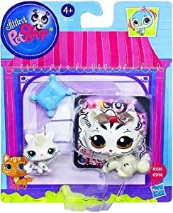 Littlest Pet Shop Figures Tiger & Baby Tiger by Hasbro TOY (English Manual)