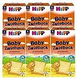 Hipp Baby Zwieback, 6er Pack (6 x 100 g Packung) - Bio