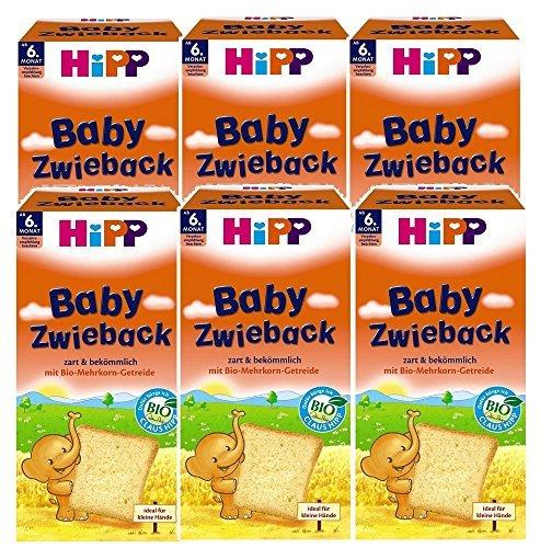 HiPP Baby- Zwieback Bio, 6er Pack (6 x 100 g)