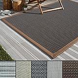 casa pura Outdoor-Teppich Eco-Beauty | mit Bordüre | Ideal für Terrasse, Balkon, Garten, Küche, Flur | aus Kunststoff Wetterfest und rutschsicher | Viele Größen und Farben (Modena, 200x290 cm)