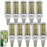 10X MENGS® E14 LED Lampe 11W AC 220-240V Warmweiß 3000K 80x5733 SMD Mit Aluminium Platte