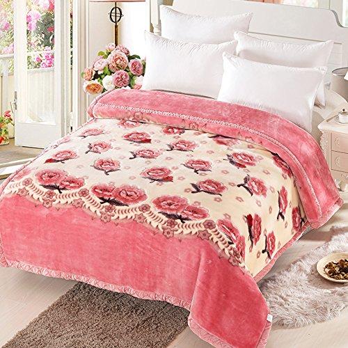 BDUK Raschel Decke Hochzeit Double Dick Winter Einzelzimmer Doppelzimmer Coral Decke auf der Wohnheime und 8 Catties fusselfreien Ll Bean Schal