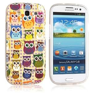 tinxi® Design Hülle für Samsung Galaxy S3 i9300 Case Tasche Cover Schutzhülle süß Eulen