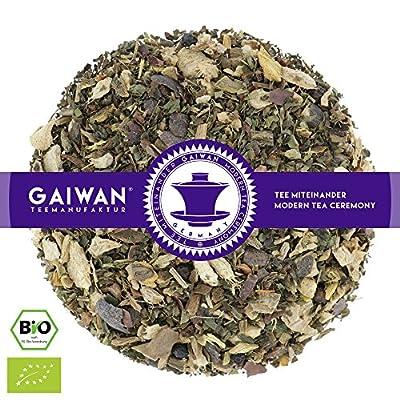 """N° 1112: Thé aux herbes bio """"Gingembre avec citron"""" - feuilles de thé issu de l'agriculture biologique - GAIWAN® GERMANY - gingembre, réglisse, menthe poivrée, citron, yerba maté vert, cassia, chocolat, poivre noir"""
