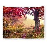 xkjymx Hängende Stoff dekorative Stoff Walddruck Tapisserie Bild 1 200X150cm