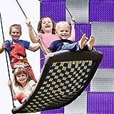 Große Mehrkindschaukel STANDARD silber/violett für 4 Kinder, 136 x 66 cm (SPR.L.104) - das Original direkt vom Hersteller die-schaukel.de