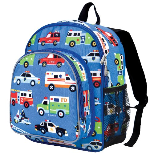 61oAsPSaWqL. SS500  - Wildkin Toddler Backpack-Action Vehicles, Polyester, Multi-Colour, Pack 'n Snack