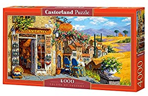 Castorland Colors of Tuscany 4000 pcs Puzzle - Rompecabezas (Puzzle Rompecabezas, Ciudad, Niños y Adultos, Niño/niña, 9 año(s), Interior)