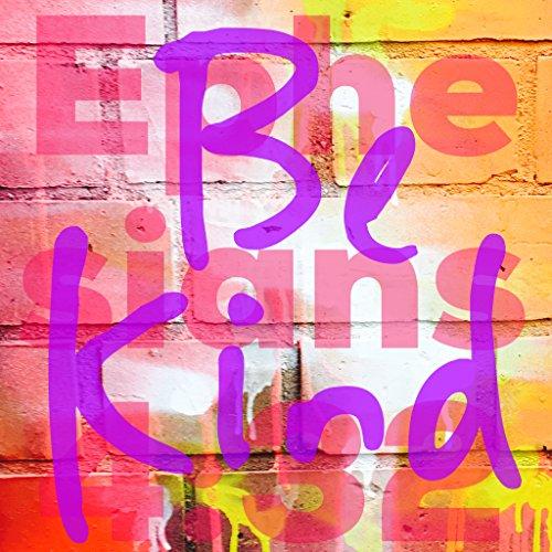 """Weihnachtlicher Kühlschrankmagnet mit englischem Zitat und Zitat für Weihnachten, Kühlschrankmagnet, Jesus-Kühlschrankmagnet, mit englischsprachigem Zitat, Bibelvers, Poster mit englischsprachiger Aufschrift """"Be Kind Epesians 4:32"""", Druck, 300X 300 MM"""
