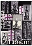 Carpeto Teppich Modern Schwarz 160 x 220 cm London Kurzflor Dijon Kollektion