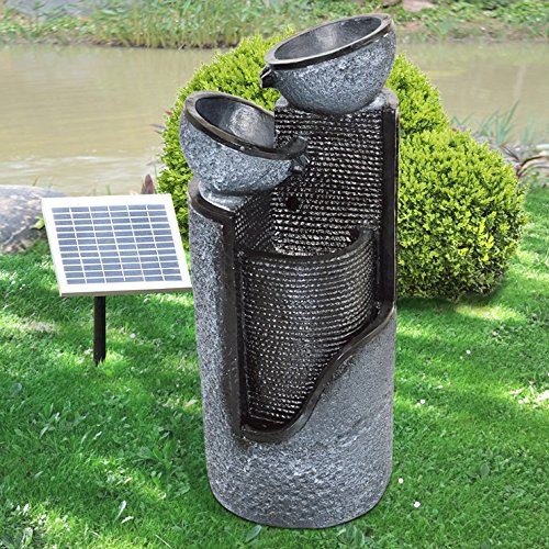 139 95 30 gartenbrunnen brunnen solar brunnen zierbrunnen vogelbad wasserfall. Black Bedroom Furniture Sets. Home Design Ideas