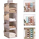 étagère Suspendue Pliable, 4-Shelf Hanging Closet Organizer, étagère Suspendue Murale avec 12 Side Mesh Pockets, étagère Susp