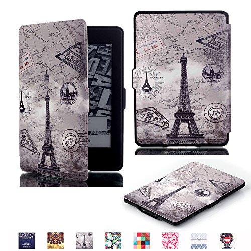 Funda para Amazon Kindle Paperwhite(All 2012, 2013 and 2015 Versions),Yihya Slim-Fit Smart Carcasa de Cuero Cover Case con la función Auto-Sleep/Wake-up + Stylus Pen--Estilo 04