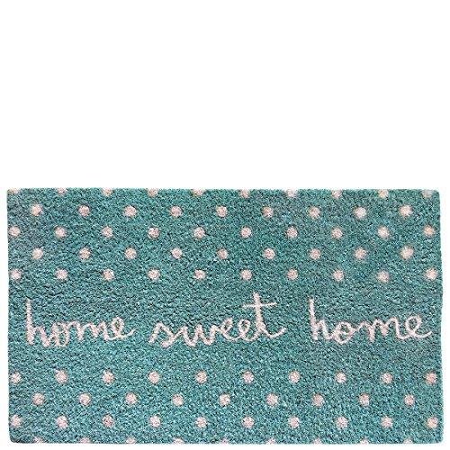 Laroom Felpudo diseño Sweet Home, Jute & Base Antideslizante, Azul, 4