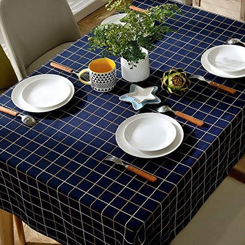 130240 cm navy blu Checker giapponese stile nordico nordico nordico minimalista Instagram Garden picnic rettangolare da pranzo tovaglia in cotone lino quadrato eco-friendly copre B076FT2Z8L Parent | Di Nuovi Prodotti 2019  | Prezzo giusto  | durabilità  6f3823