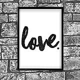 Inspired Walls Love motivierendem positiven Gedanken Zitat Poster Bild Kunstdruck Mauer 44–A4(21x 30cm)