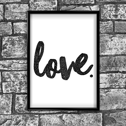 Inspired Walls Love motivierendem positiven Gedanken Zitat Poster Bild Kunstdruck Mauer 44-A4(21x 30cm)