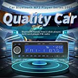 Autoradio Auto MP3 Player, Universal 12V Bluetooth Stereo Autoradio mit USB/SD/AUX Audio Empfänger und MP3/MP4/MP5/MMC/WMA Player mit Fernbedienungen Freisprechfunktion und Integriertes Standard Mikrofon