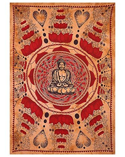 Meditation Buddha Tapisserie Twin Size Tischläufer Multi Color Tie Dye Bettdecke Home Decor Wand Hängende Tischdecke Tagesdecke Baumwolle Bohemian Tapestry Hippie Tapisserie Mädchen Twin Bettdecke