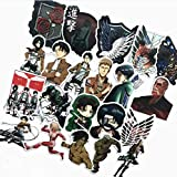 HZHUI Japanese Anime on Titan Stickers for Car Phone Luggage Laptop Bike Sticker Decal 50pcs ...