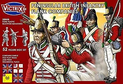 Victrix VX0004 - Sociétés De Flanc D'infanterie Britannique Péninsulaires - Coffret De 52 Figurines Avec Drapeaux - Miniatures En Plastique De 28mm