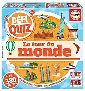 Educa Borrás Defi Quiz-Le Tour du Monde - Juego de Mesa (18156, Variado)