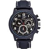 Souarts Herren Armbanduhr Einfach Stil Sport Analoge Quarz Uhr mit Silikon Armband
