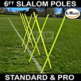 6FT Slalom Poles [8qty/16qty] *BEST QUALITY AVAILABLE* 25m or 34mm Spring Loaded - Football/Sport Agility Training – 24HR Ship [Net World Sports] (06. Slalom Poles [16qty] + Carry Bag)