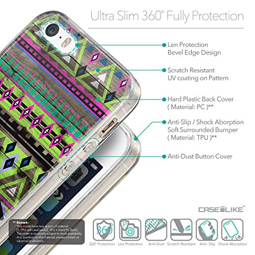 CASEiLIKE Citation 2429 Housse Étui UltraSlim Bumper et Back for Apple iPhone SE +Protecteur d'écran+Stylets rétractables (couleur aléatoire) 2049