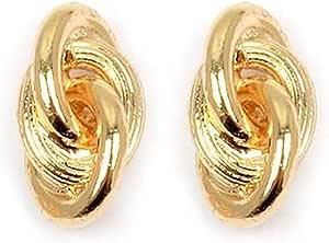 Les Trésors De Lily [M8776] - Orecchini oro placcato 'Forçat Double Antillais' .