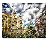 Msd Natural rubber Gaming Mousepad Image ID: 32383819edifici e case nel centro storico di Praga