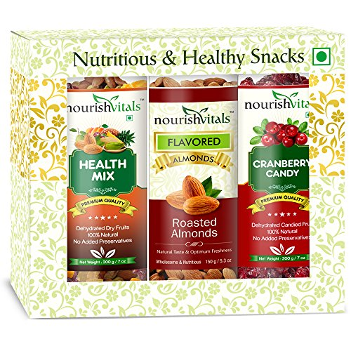 Nourish Vitals Roasted Almonds + Health Mix + Cranberry Dried Fruit (dehydrated Fruits)