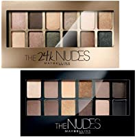 Maybelline New York The Nudes Palette Eyeshadow, 9g + Maybelline New York The 24K Gold Nude Palette Eyeshadow, 9g