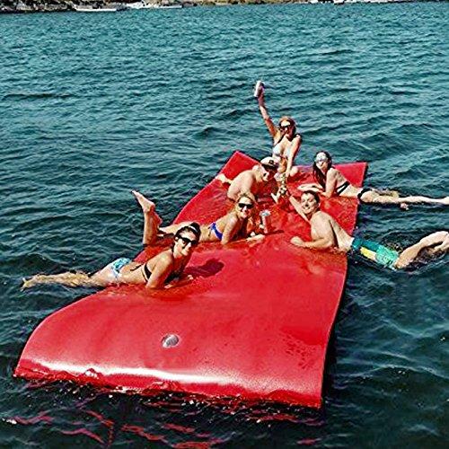 Moracle Colchoneta de Agua Flotante 12x6FT / 18x6FT Almohadilla de Espuma...