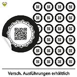 cute-head 24 Adventskalender-Zahlen (Aufkleber Etiketten Sticker) | Originell als QR Code | Rund | M » Ø 40 mm | Gerahmt | F00001-01