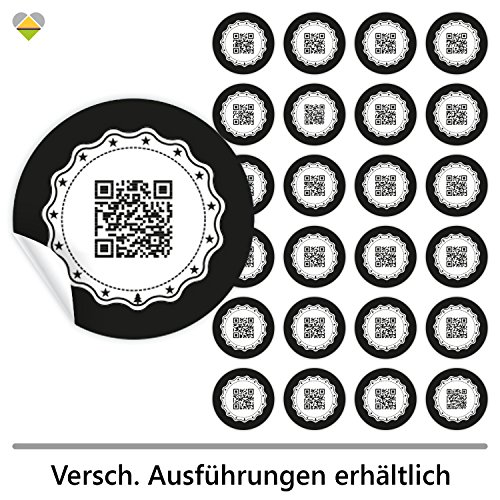 cute-head 24 Adventskalender-Zahlen (Aufkleber Etiketten Sticker)   Originell als QR Code   Rund   M » Ø 40 mm   Gerahmt   F00001-01 (Schwester Schwester Abgeschlossen)