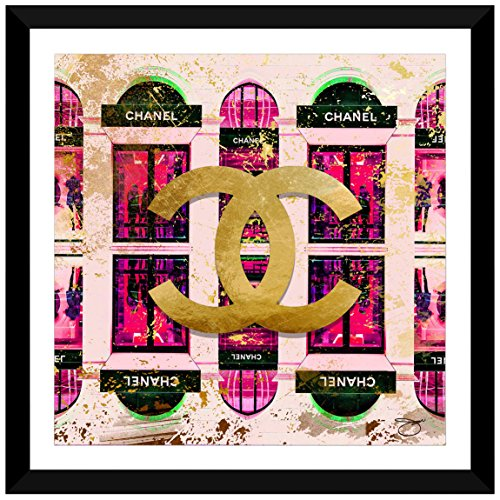 Bild Perfekte International Shop Chanel in pink von By Jodi gerahmt Plexiglas-Art Wand