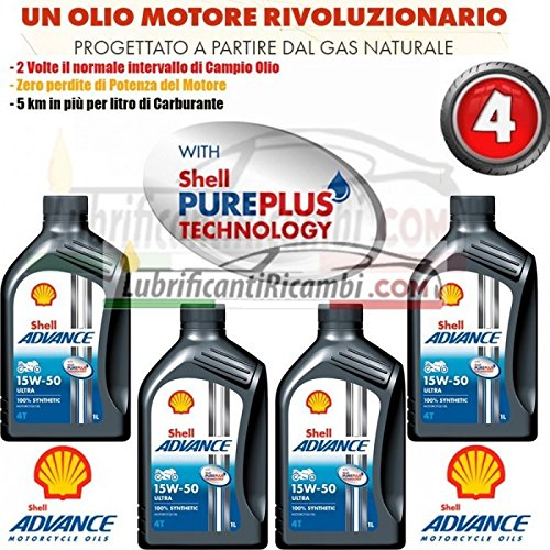 Offerta - Shell Advance 4T Ultra 15W50 SMMA2 - 4 Lit