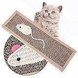 Demiawaking Katzenspielzeug Sisal Hanf Katzenkratzbrett Kratzbaum Pet Scratch Pad Krallen Pad Katzenspielzeug (zufälliger Stil)