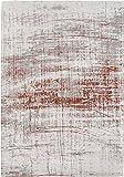 Louis de Poortere Teppich Designer-Herren Griff 8956COPPERFIELD grau/braun mit moderner, modern, für Teppiche, grau, 140x200cm - (4'7x6'7)