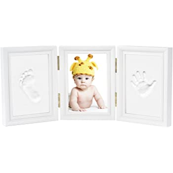 Perfect for Baby Photo Wall Decor New Mom Gifts Baby Shower Registry Baby Picture Frame First Year Ornament Keepsake Box for Newborn Boys /& Girls SISIRI Baby Handprint Kit /& Footprint